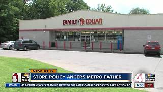 Store policy angers KCK father - Video