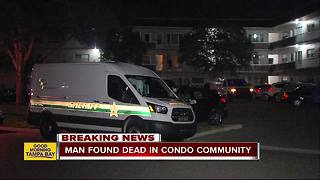 Detectives conducting death investigation inside gated community in Clearwater - Video