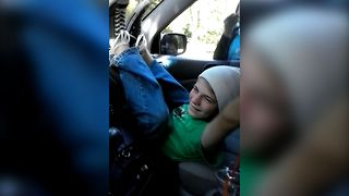 Teen Gets Stuck In The Car - Video