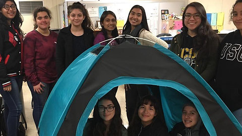 DIY Girls Invent a Solar-Powered Tent for the Homeless