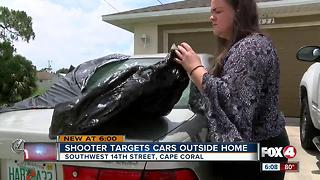 Shooters target cars outside Cape Coral home, neighbor captures driveby on video - Video