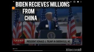 Biden recieve millions from China. While the rest of America only got the virus!