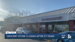 Grocery store closing after 57 years