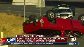 Kent police officer killed during police pursuit in Washington - Video