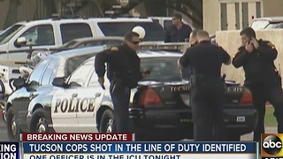 Tucson officers shot in line of duty - Video