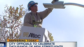 City officials to celebrate thousands of new streetlights