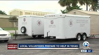 Local volunteers prepare to help in Texas - Video