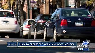 Plan to create bus only lane down Colfax - Video