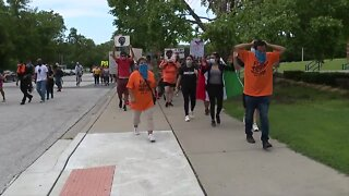Protesters march on Kansas City's Westside