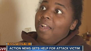 Woman moves after attack at apartment