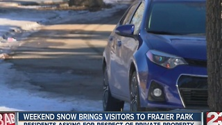 Weekend snowfall brings visitors to Frazier Park - Video
