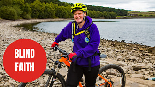 Young blind woman believed to be the first in the UK to cycle a massive bike trail