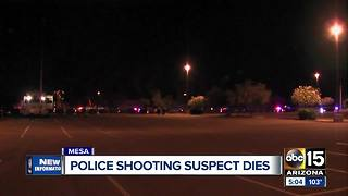 Suspect dies from injuries after Mesa officer-involved shooting