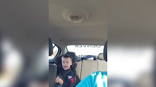 A Carseat Can't Keep this Kiddo From Dancing!