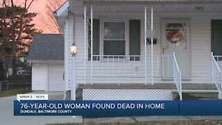 76-year-old woman found dead in home
