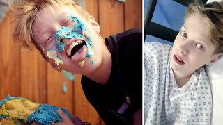 Boys hilarious reaction to adrenaline shot after operation