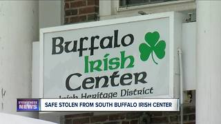 Large safe, $3,000, and dolly stolen from Buffalo Irish Center - Video