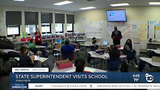 State Superintendent Tony Thurmond visits two Chula Vista Schools