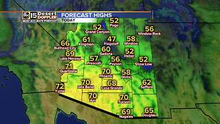 High temperature of 70 expected on Wednesday - Video