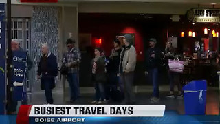 Busiest holiday travel season for Boise Airport - Video