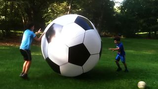 Giant Soccer Ball Fail - Video