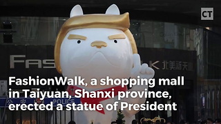 China Erects Trump Statue - Video