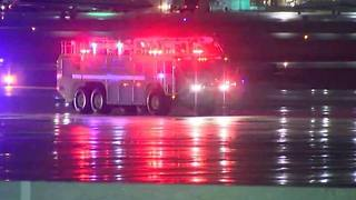 Miami Heat's plane slides on Milwaukee airport runway - Video