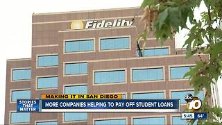 Making It In San Diego: More companies helping to pay off student loans