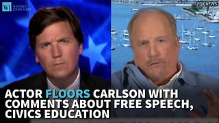 Actor Floors Carlson With Comments About Free Speech, Civics Education - Video