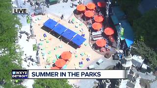 Summer in the parks in downtown Detroit