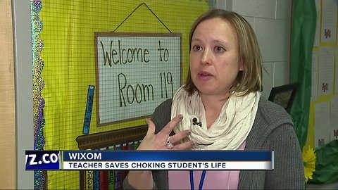 Wixom teacher saves choking student's life
