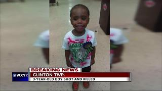 Three-year-old boy shot and killed in Clinton Township
