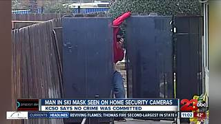 Man in ski mask seen on home security cameras - Video