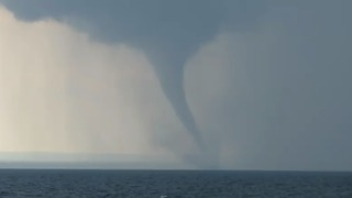 Waterspout Swirls Over Lake Erie - Video