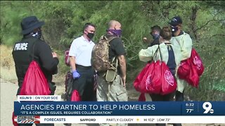 Multiple Tucson agencies partner to help provide resources to homeless
