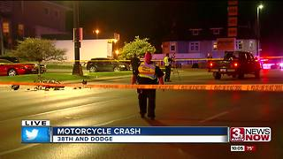 Motorcyclist injured in accident near 38th and Dodge streets - Video