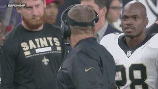 Adrian Peterson Hits Sean Payton with a DEATH STARE After Yelling at Him - Video