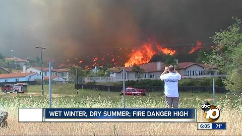 Wet winter, dry summer = high fire danger