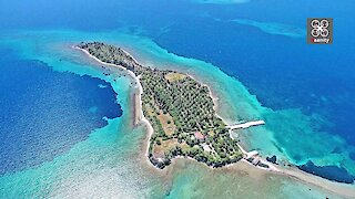 Drone captures exotic, guitar-shaped island in Greece