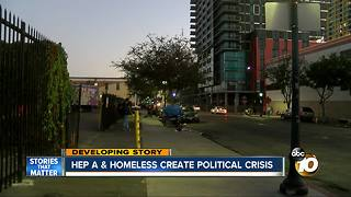 Hep A & homeless create political crisis - Video