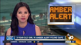 3-year-old in Amber Alert found safe