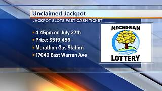 Unclaimed lottery ticket sold in Detroit worth more than $500K