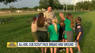 All-girl Cub Scout pack in Pasco County is a ground-breaking first - Video