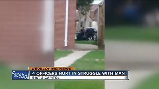 Man attacks, injures four Milwaukee Police officers - Video