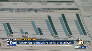 Mayor calls for reform after water bill errors