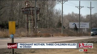 Pregnant mother and children killed in crash