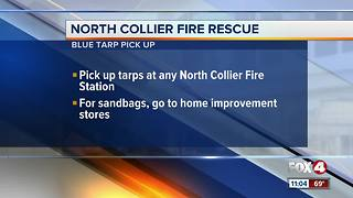 Fire Rescue are helping residents prepare for heavy rain by giving out blue tarps