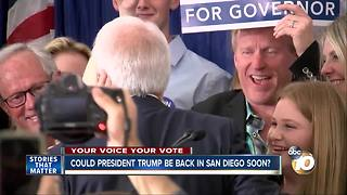 Could President Trump be back in San Diego soon? - Video