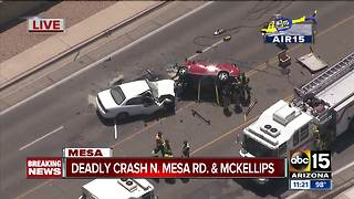 One dead in serious Mesa crash - Video