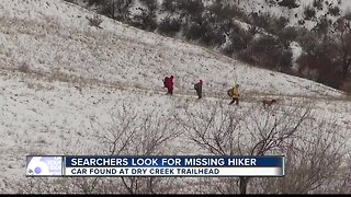 The search for missing hiker continues